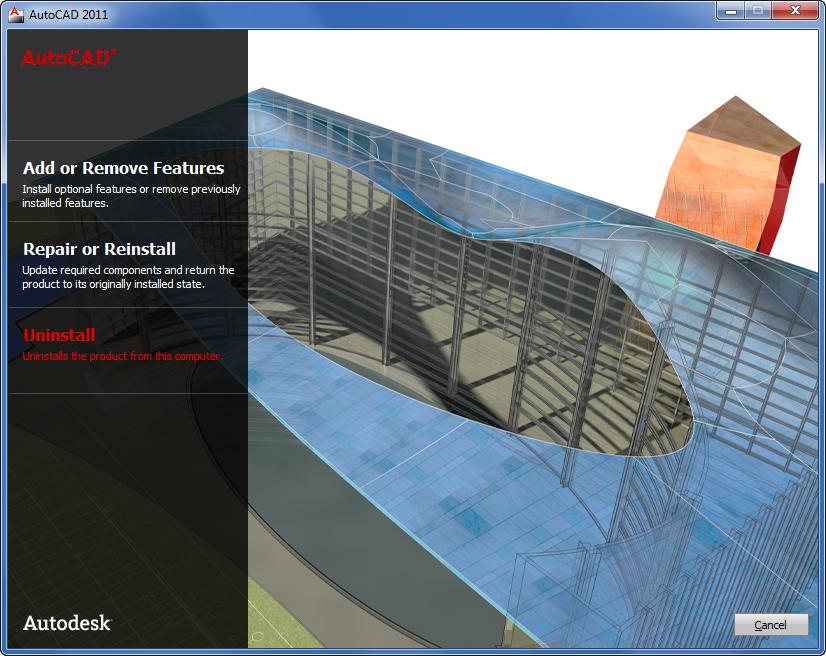 AutoCAD 2011 installer