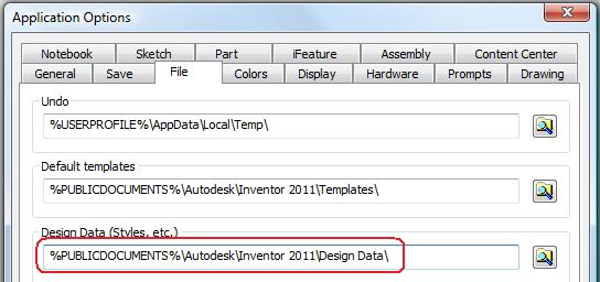 Inventor Application Options