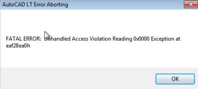 Windows crash during license authorization Hotfix - AutoCAD