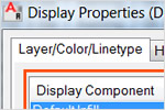 Layer Key component display in architectural software by Autodesk