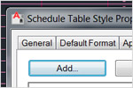 Schedule table enhancement in architectural software by Autodesk