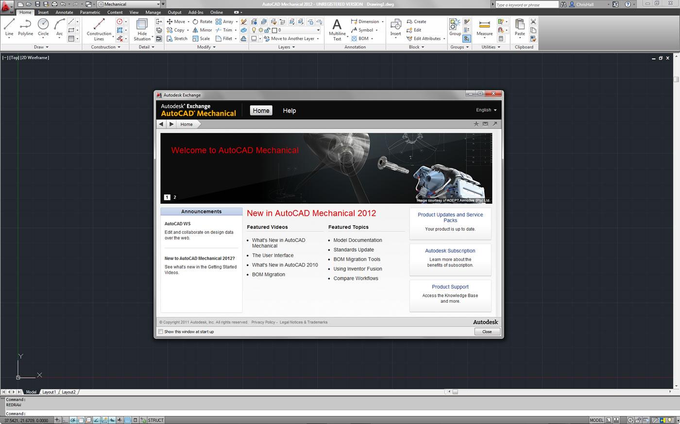 AutoCAD Mechanical full screenshot
