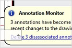 AutoCAD Mechanical: Annotation Monitor