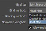 Maya 2013 - Heat Map Skinning