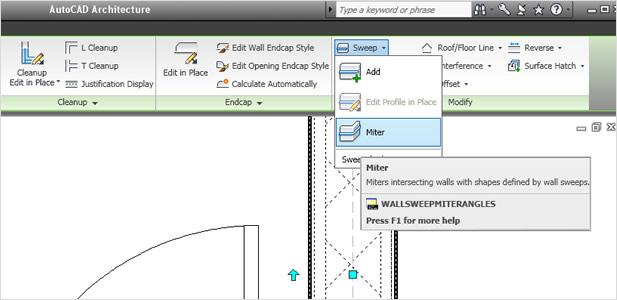 AutoCAD Architecture: interface utilisateur rationalisée