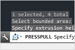AutoCAD 2013 feature for context sensitive PressPull