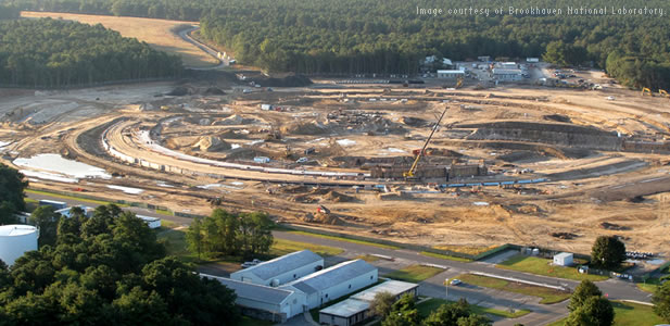 Under construction: the National Synchrotron Light Source II (NSLS-II) at Brookhaven National Laboratory