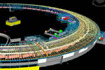 Rendering of 900-foot diameter NSLS-II facility with electron storage ring