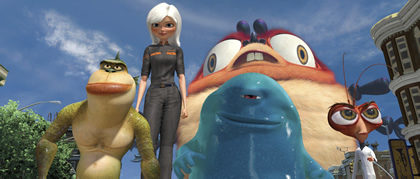Characters from DreamWorks Animation L.L.C.'s Monsters vs. Aliens.