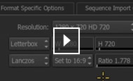 Smoke video tutorial: File format specific settings
