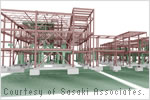 Structural rendering of Gallagher Hall.
