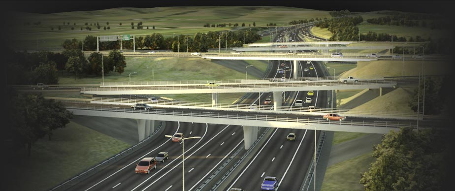 3D Image of Highways for the Present