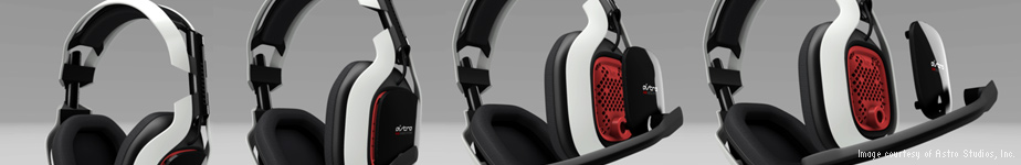 Award-winning gaming headsets:  industrial design by Astro Studios, Inc.