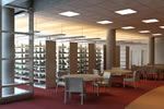 Rendering of the lighting design for the new stacks