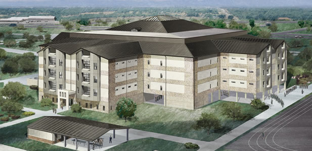 Rendering of the new Lackland Air Force Base Airmen Training Complex