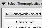 Autodesk Moldflow: dati sui materiali