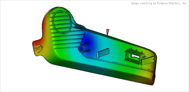 Autodesk Moldflow simulations are used to produce high-quality plastic parts