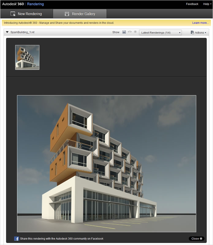 Autodesk Revit LT: Create Photorealistic Renderings in the Cloud