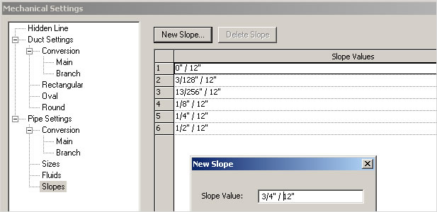 Autodesk Revit MEP: Sloped Piping