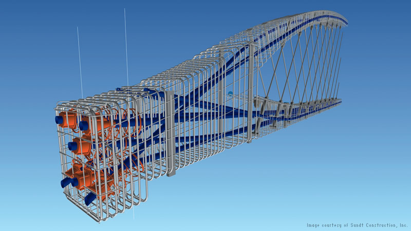 Creation of 3D construction model improved preconstruction planning and coordination