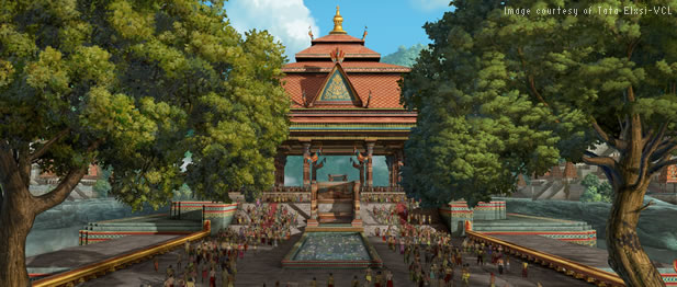 Tata Elxsi-VCL create palace rendering for animated feature film using Autodesk Maya and 3ds Max 3D modeling software
