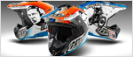 Racing helmets by Troy Lee Designs