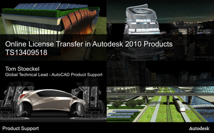 Online License Transfer in Autodesk 2010 Products