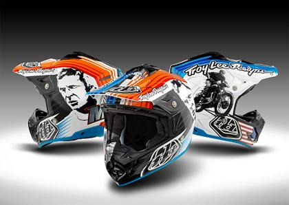 troy lee 仍手绘部分订制头盔,而大多数赛车手正是被 troy lee