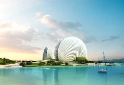 珠海歌剧院位于风景隽秀的野狸岛上,她的形象不但要承载艺术殿堂的