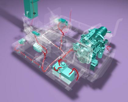 在三维布管设计方面,inventor的可视化功能使线路干涉等潜在的设计