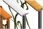 Revit architectural software features railing modelling enhancements.