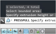 AutoCAD 2013 video tutorial: Context-sensitive PressPull (new feature)