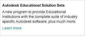 Autodesk Educational Solution Sets