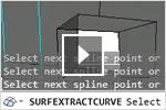AutoCAD 2013: извлечение кривых из поверхностей