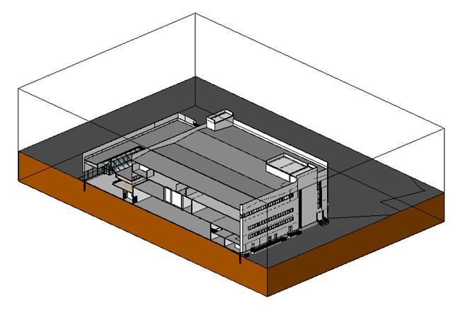 модель здания.