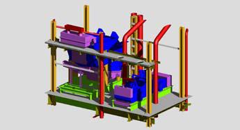 Узел для просеивания сыпучих материалов, выполненный в Autodesk Inventor