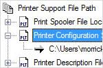 Хранение вспомогательных файлов печати в нескольких папках