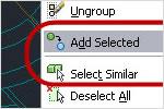 Выбор аналогичных и добавление выделенных объектов