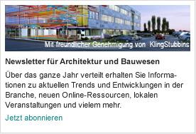 Newsletter für Architektur und Bauwesen