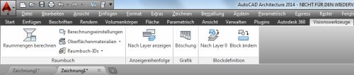 Raumbuch in AutoCAD Architecture 2014
