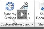 Vídeo de aprendizaje de AutoCAD 2013 con novedades sobre sincronización de personalizaciones y archivos de soporte